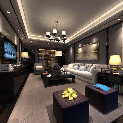 现代时尚客厅样板房