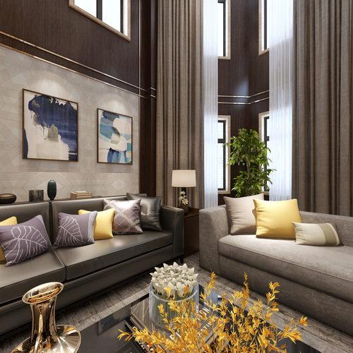 新古典风格客厅全景
